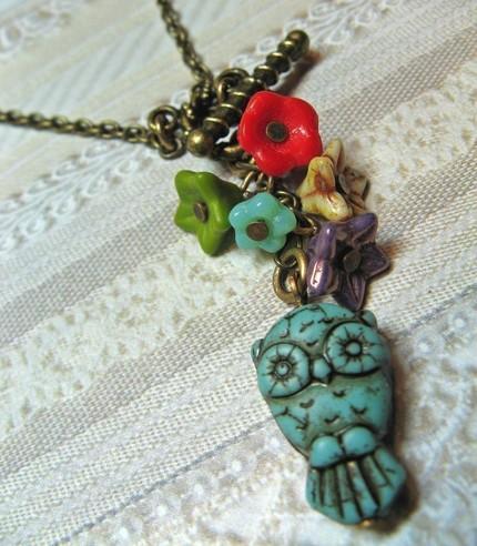 Owl Pendant from birdzNbeez